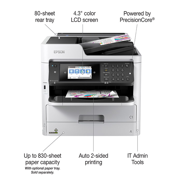 Feature callouts for Epson WorkForce Pro WF-C5710
