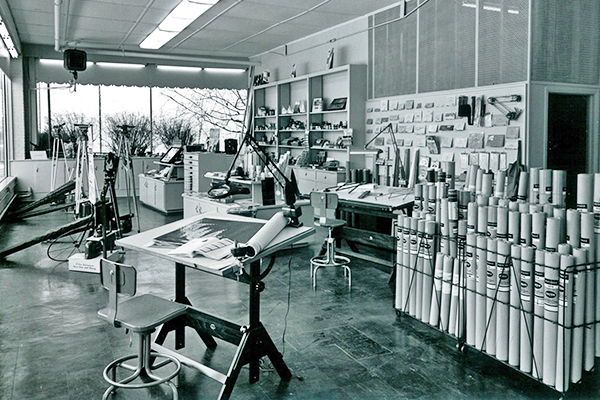 Historic Showroom Photograph of Print-O-Stat