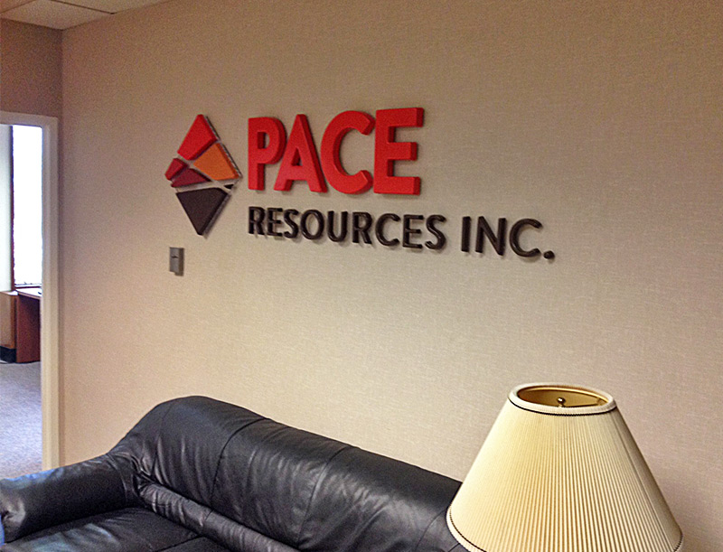 Image: PACE Resources Lobby Logo Display
