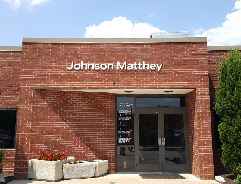 Building Lettering at Johnson Matthey