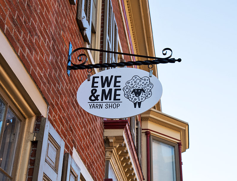 Building Sign at Ewe & Me