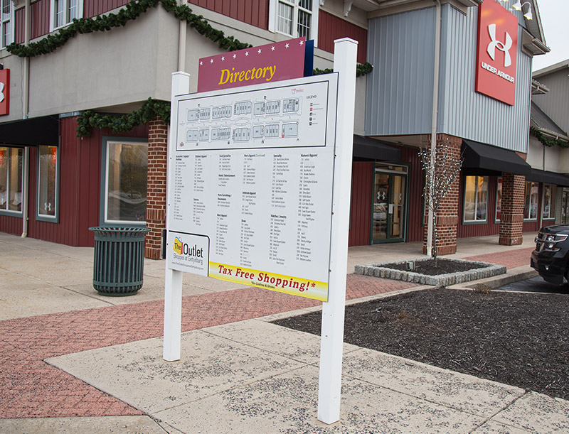 Store Directory at Gettysburg Outlets
