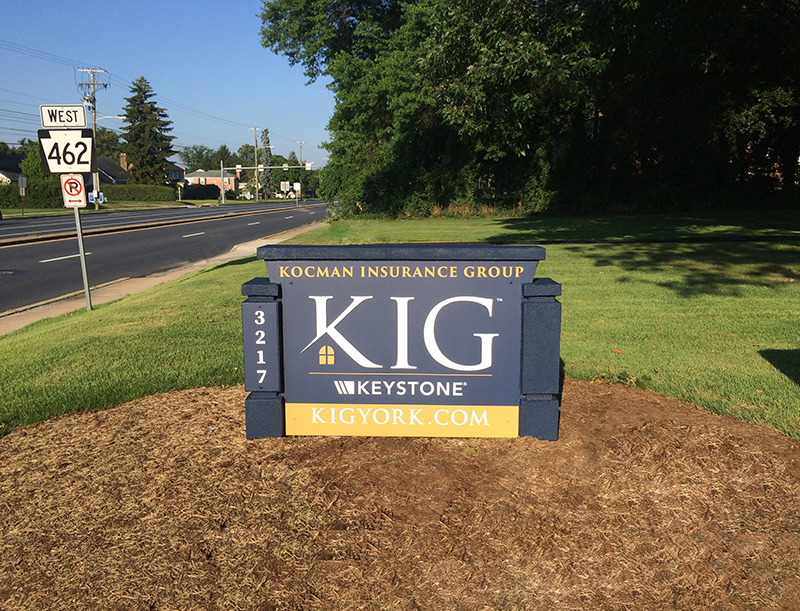 Custom Monument Signs Kocman Insurance