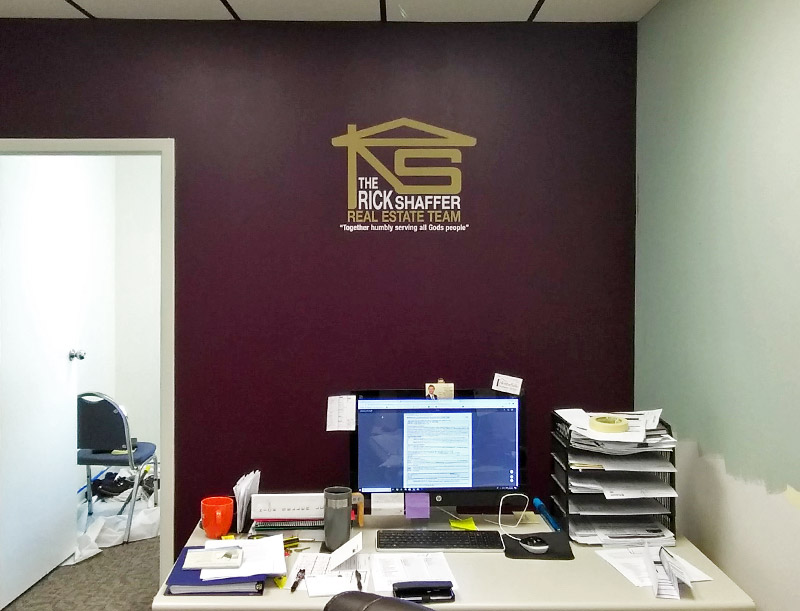 Logo wall decal for Rick Shaffer Real Estate Team