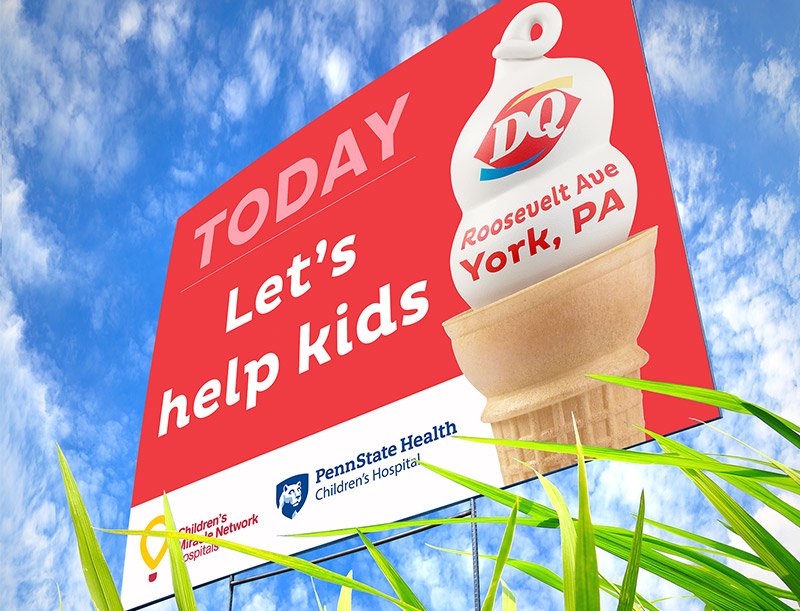 Fundraiser Yard Sign for Dairy Queen