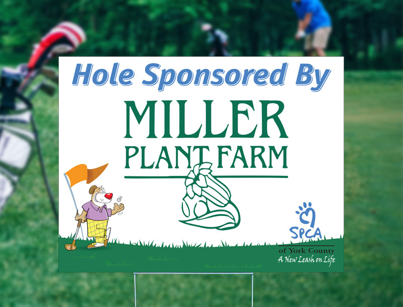 Hole Sponsorship Sign