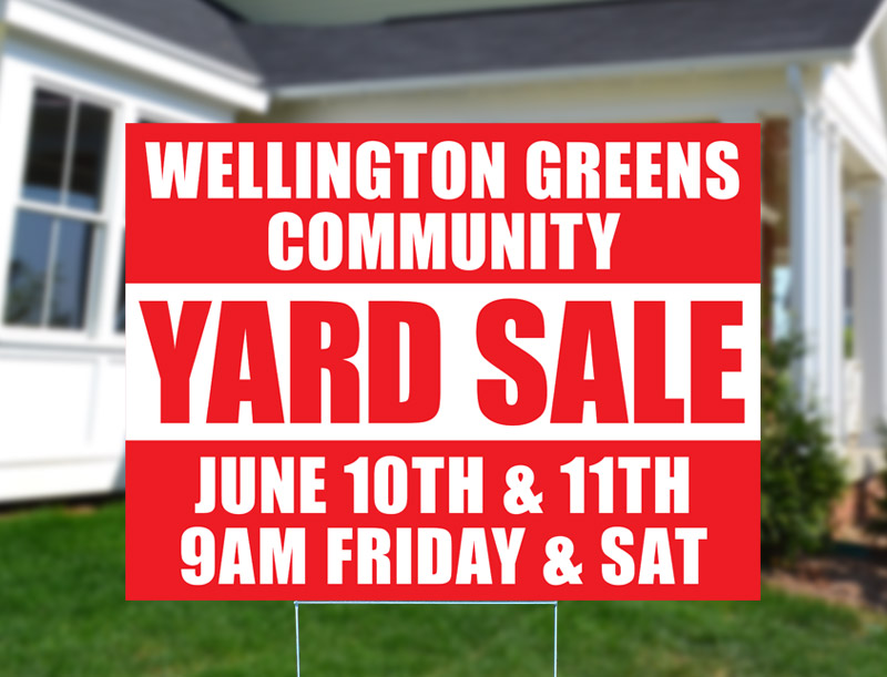 Wellington Greens Community Yard Sale Sign